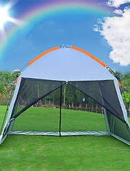 cheap -8 person Screen Tent Screen House Outdoor UV Resistant Rain Waterproof Breathability Double Layered Poled Camping Tent 2000-3000 mm for Climbing Beach Camping / Hiking / Caving Steel Alloy Nylon Net