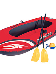 cheap -2 Persons Inflatable Boat Set with Hand Air Pump French Oars PVC Portable Folding Fishing Boating Water Sports 196*114 cm
