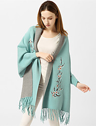cheap -Women's Basic / Holiday Rectangle Scarf - Print Tassel / All Seasons