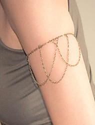 cheap -Arm-Chain Ladies Simple Fashion Women's Body Jewelry For Club Bar Retro Alloy Creative Gold Silver 1pc