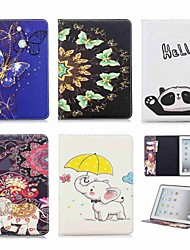 cheap -Case For Apple iPad Mini 5 / iPad New Air(2019) / iPad 4/3/2 Wallet / Card Holder / with Stand Full Body Cases Animal / Elephant Hard PU Leather