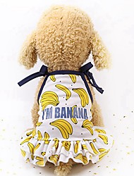 cheap -Dogs Cats Pets Hoodie Holiday Decorations Shirt Dog Clothes Fruit Gold Yellow Pink Mesh Costume For Husky Labrador Alaskan Malamute All Seasons Female Sports & Outdoors Casual / Sporty
