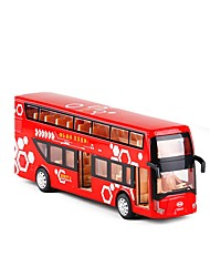 cheap -1:50 Toy Car Double-decker Bus Bus City View Metal Alloy Mini Car Vehicles Toys for Party Favor or Kids Birthday Gift 1 pcs