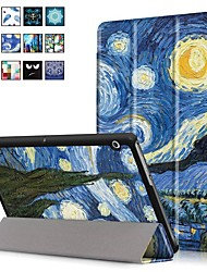 cheap -Case For Huawei Huawei MediaPad T3 10(AGS-W09, AGS-L09, AGS-L03) with Stand / Magnetic Full Body Cases Oil Painting Hard PU Leather