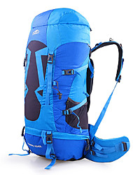 cheap -TOPSKY 70 L Rucksack Multifunctional Breathable Outdoor Hiking Cycling / Bike Camping Yellow Blue / Yes