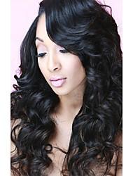 cheap -3 Bundles with Closure Peruvian Hair Body Wave Human Hair Unprocessed Human Hair Natural Color Hair Weaves / Hair Bulk Bundle Hair One Pack Solution 8-20 inch Natural Color Human Hair Weaves Soft New