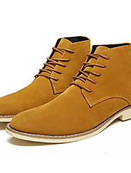 cheap -Men's Comfort Shoes Suede Fall Boots Black / Brown / Blue / Outdoor