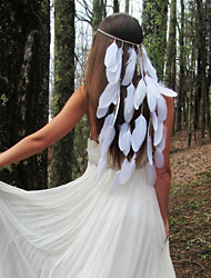 cheap -Feathers Headbands with Feather 1pc Wedding / Party / Evening Headpiece