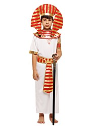 cheap -Pharaoh Costume Boys' Kids Halloween Halloween Carnival Children's Day Festival / Holiday Polyster Outfits White Solid Colored Halloween