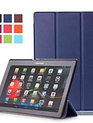 Недорогие -Кейс для Назначение Lenovo Lenovo Tab-X103F со стендом / Магнитный Чехол Однотонный Твердый Кожа PU
