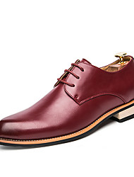 cheap -Men's Formal Shoes PU Spring & Summer / Fall & Winter Casual / British Oxfords Black / Brown / Burgundy / Party & Evening