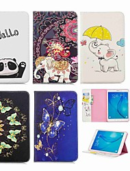 cheap -Case For Samsung Galaxy Tab E 9.6 Wallet / Card Holder / with Stand Full Body Cases Elephant Hard PU Leather