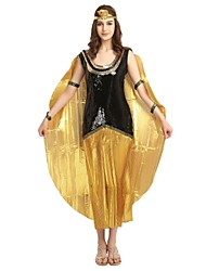 cheap -Egyptian Costume Adults Highschool Women's Halloween Costume For Polyster Solid Colored Halloween Halloween Carnival Masquerade Dress Headwear