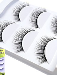 cheap -Eyelash Extensions False Eyelashes 6 pcs Natural Natural Curly Animal wool eyelash Event / Party Daily Wear Thick Natural Long - Makeup Daily Makeup Halloween Makeup Party Makeup Professional High
