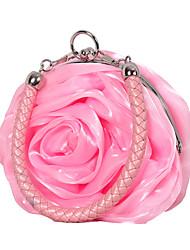 cheap -Women's Lace / Flower Silk Evening Bag Solid Color Black / Wine / White