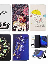 cheap -Case For Samsung Galaxy Tab A 10.1 (2016) Wallet / Card Holder / with Stand Full Body Cases Elephant Hard PU Leather