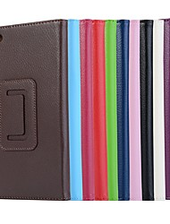 cheap -Case For Lenovo Lenovo Tab 7 Essential / Lenovo Tab 4 7 Essential with Stand / Magnetic Full Body Cases Solid Colored Hard PU Leather