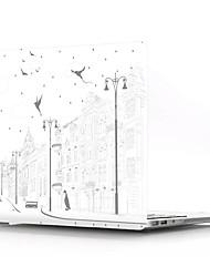 abordables -macbook cas tour eiffel paysage pvc pour macbook air pro rétine 11 12 13 15 housse d'ordinateur portable pour macbook new pro 13.3 15 pouces avec barre tactile