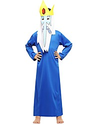 cheap -Witch Costume Boys' Teen Halloween Halloween Carnival Children's Day Festival / Holiday Polyster Outfits Ink Blue Solid Colored Halloween