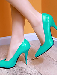cheap -Women's Heels Stiletto Heel Patent Leather Comfort Spring Red / Green / Blue / Daily / EU37