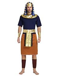cheap -Egyptian Costume Highschool Men's Halloween Costume For Polyster Solid Colored Halloween Halloween Carnival Masquerade Leotard / Onesie Belt Headwear / Neckwear