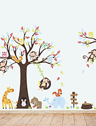 cheap -Decorative Wall Stickers - Animal Wall Stickers Animals Living Room / Bedroom / Bathroom