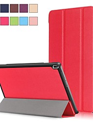 cheap -Case For Lenovo Lenovo Tab 4 10 Plus / Lenovo Tab 4 10 with Stand / Magnetic Full Body Cases Solid Colored Hard PU Leather