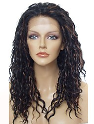 cheap -Synthetic Wig Synthetic Lace Front Wig Wavy Layered Haircut Lace Front Wig Long Ombre Black / Medium Auburn Synthetic Hair Women's Anime Party Synthetic Dark Brown / Natural Hairline