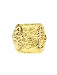 cheap -Men's Ring Signet Ring 1pc Gold Steel Stainless Round Unique Design European Hip-Hop Street Festival Jewelry Vintage Style Stylish Head Faith Cool