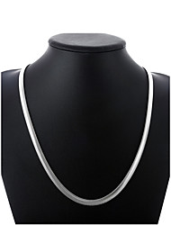 cheap -Men's Chain Necklace Thick Chain Single Strand Simple Basic Fashion Copper Silver Plated Silver 50 cm Necklace Jewelry 1pc For Street Daily