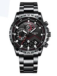 cheap -Men's Sport Watch Quartz Black / Silver Calendar / date / day Noctilucent Analog - Digital Classic Casual - Silver Blue Silver / Black