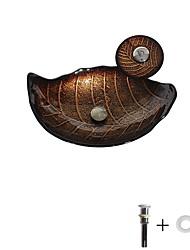 cheap -Bathroom Sink / Bathroom Faucet / Bathroom Mounting Ring Antique - Tempered Glass Rectangular Vessel Sink