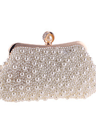 cheap -Women's Bags Polyester Evening Bag Pearls Chain Solid Color Pearl Party Wedding Event / Party Evening Bag Wedding Bags Handbags Beige