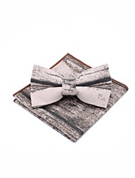 cheap -Unisex Party / Basic Bow Tie - Print Black & Gray, Bow / Suits