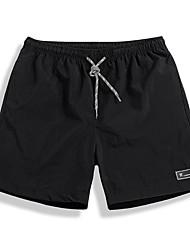 cheap -Men's Basic Daily Shorts Pants - Solid Colored Blue Black Gray XXXL XXXXL XXXXXL