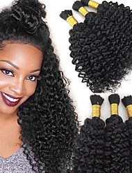 cheap -Unprocessed Human Hair / Human Hair Bulk Hair Women / New / curling Curly Brazilian Hair Full-Length 100g/bundles More Than One Year Daily Wear