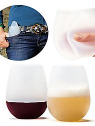 Недорогие -Drinkware Каждодневные чашки / стаканы / Необычные чашки / стаканы / Чайные чашки Полный силикон для тела Компактность / Сжимая / Boyfriend Подарок Для занятий спортом / Отдых и туризм