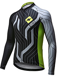 cheap -Mysenlan Men's Long Sleeve Cycling Jersey Green / Black Bike Jersey Top Breathable Quick Dry Sports Polyester Mountain Bike MTB Road Bike Cycling Clothing Apparel / Expert / Expert / Italian Ink