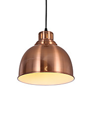 cheap -1-Light Modern Electroplated Red Bronzer Pendant Lights 1 Light Metal Shade Living Room Dining Room Use 1 E26/E27 Bulbs