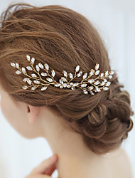 cheap -Alloy Hair Combs / Headpiece with Crystal / Rhinestone 1 Piece Wedding / Special Occasion Headpiece