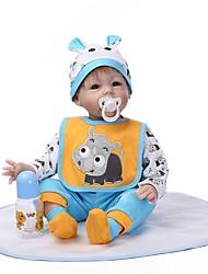 Недорогие -NPKCOLLECTION 24 дюймовый NPK DOLL Куклы реборн Мальчики Reborn Toddler Doll Новорожденный как живой Подарок Безопасно для детей Взаимодействие родителей и детей с одеждой и аксессуарами