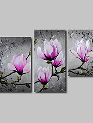 cheap -Oil Painting Hand Painted - Landscape / Floral / Botanical Comtemporary Canvas