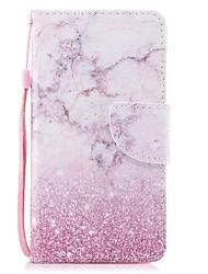 Недорогие -Кейс для Назначение Apple iPhone 6s / iPhone 6 Кошелек / Бумажник для карт / Флип Чехол Мрамор Твердый Кожа PU