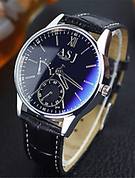 cheap -ASJ Men's Dress Watch Wrist Watch Quartz Watches Leather Brown Water Resistant / Waterproof Analog Classic Casual - Blue Black Black / White One Year Battery Life / SSUO SR626SW