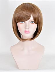 cheap -Synthetic Wig Straight Bob Wig Short Medium Auburn Synthetic Hair 10inch Women's Cute Party Brown