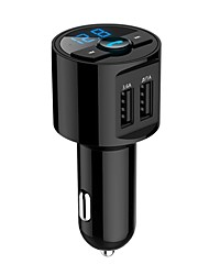 cheap -Bluetooth Car Kit Hands Free FM Transmitter Wireless MP3 Music Paying Dual USB 5V 3.6A Car Charger Voltage Detection