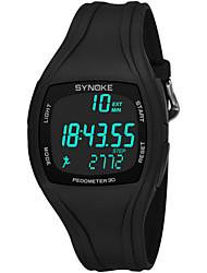 Недорогие -SYNOKE Муж. Спортивные часы электронные часы Цифровой Стеганная ПУ кожа Черный / Белый / Серый 50 m Защита от влаги Календарь Секундомер Цифровой Мода - Зеленый Белый Черный / Хронометр