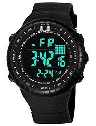 Недорогие -SYNOKE Муж. Спортивные часы электронные часы Цифровой Стеганная ПУ кожа Черный / Серый / Темно-синий 50 m Защита от влаги Календарь Секундомер Цифровой Мода - Темно-синий Серый Зеленый