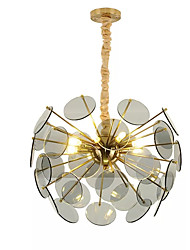 cheap -10-Light 50 cm Chandelier Metal Brass Modern 110-120V / 220-240V