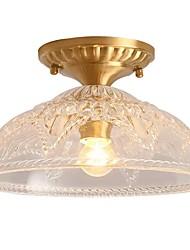 cheap -1-Light QIHengZhaoMing 30 cm Flush Mount Lights Metal Glass Brass Modern 110-120V / 220-240V